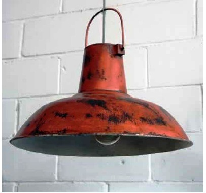 Vintage industrial pendant distressed red lamp akku art exports category vintage lamps lightings aloadofball Choice Image