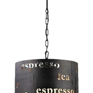 EXPRSOO CAFE INDUSTRIAL LAMP PRINTED SIZE IN INCHES 12 X 12 X 11 H