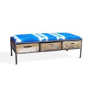 Industrial bench & ottomans  With 3 Drawers