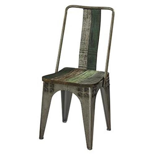 Vintage Metal Dining Chairs vintage industrial dining chair - akku art exports