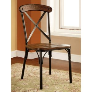 new chair iron wooden mix
