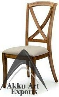 wood canvas dining chair