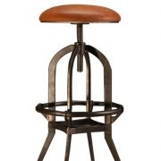 leather seat iron stool