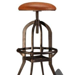 leather seat iron stool