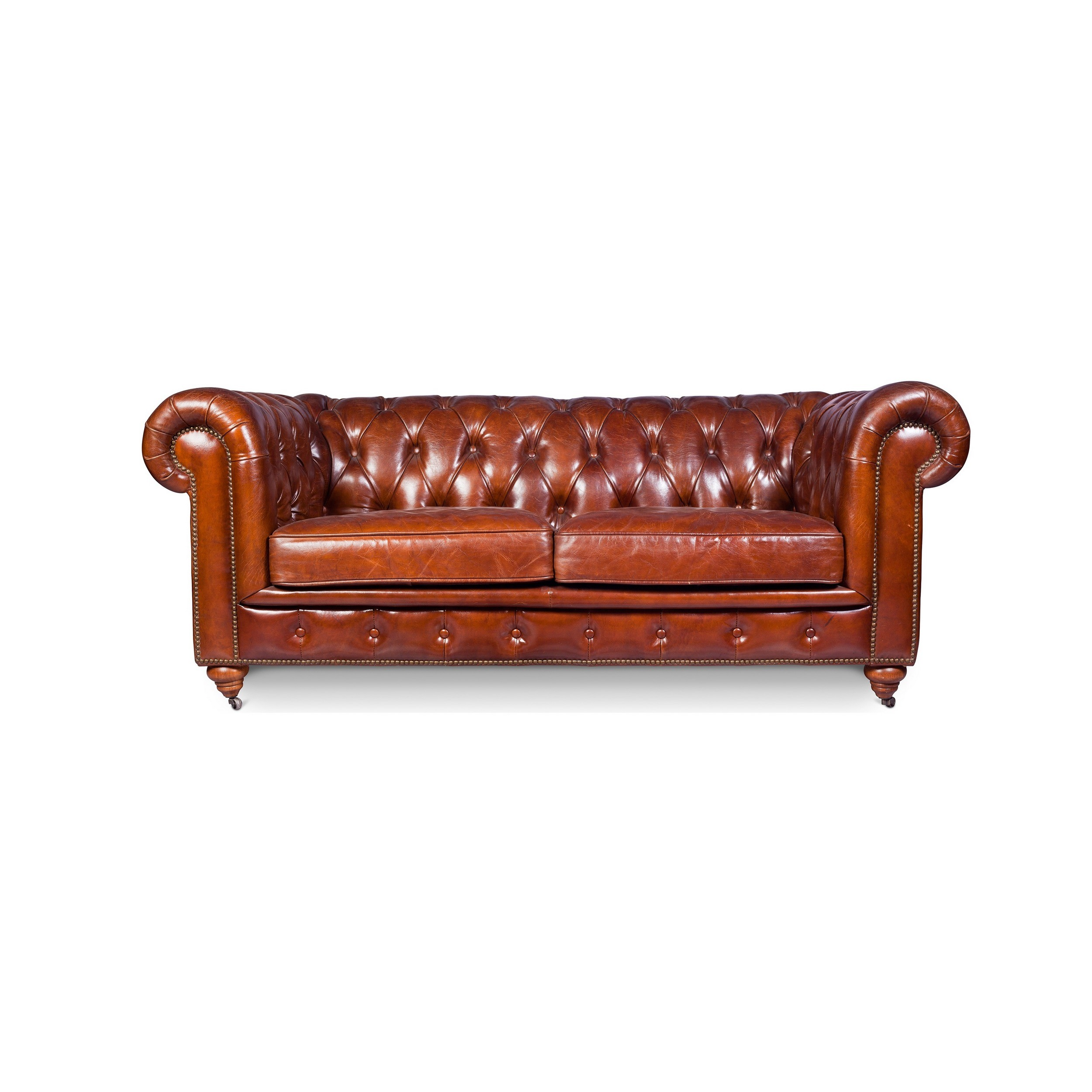 Chesterfield Sofa Vintage Leather Two