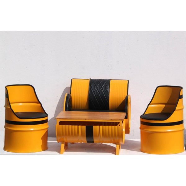 oil drum furniture set