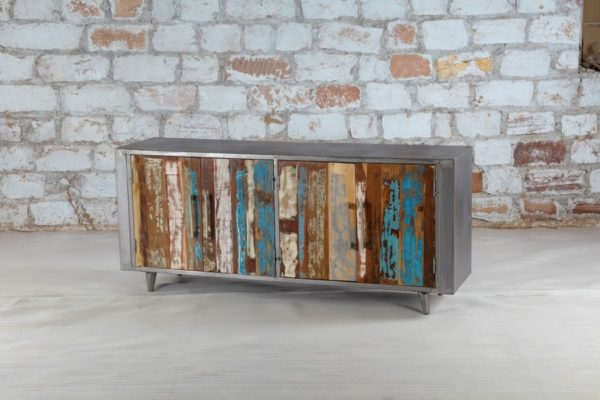 recycled wood tv stand