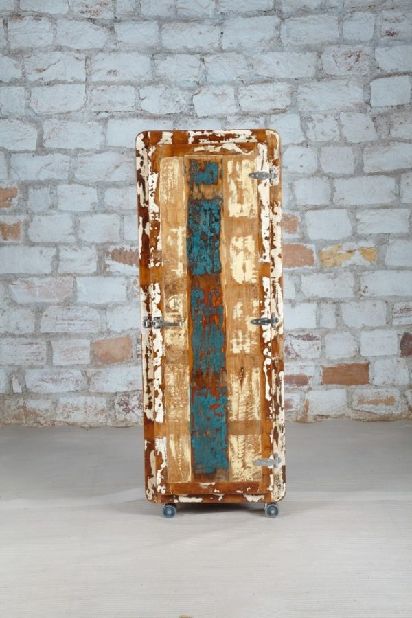 recycled wood storage cabinet