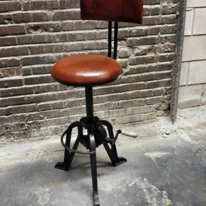 industrial adjustable height bar stool