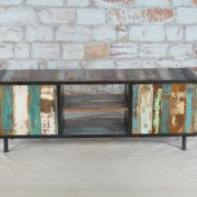 recycled wood tv cabinet