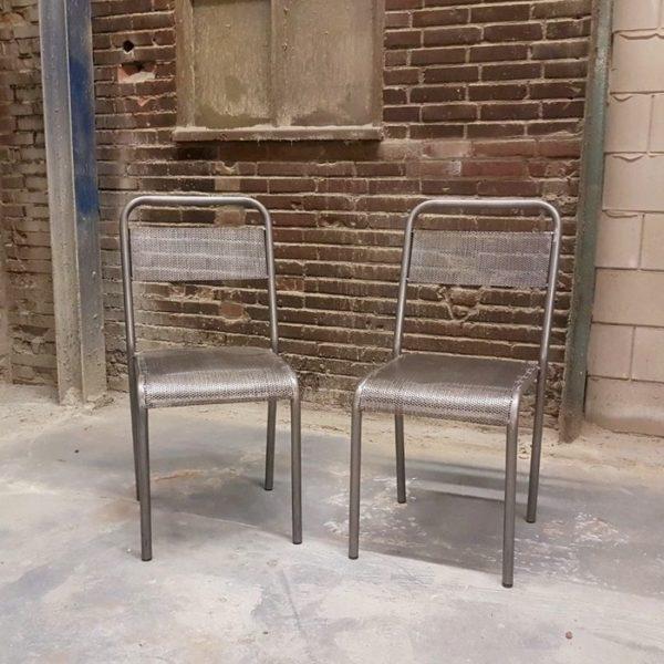 iron school chair