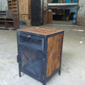 industrial style bedside table